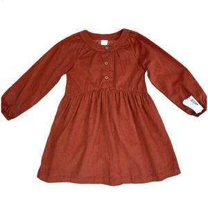 🌸 NWT Rust Pleated Button Up Dress - Girls 6